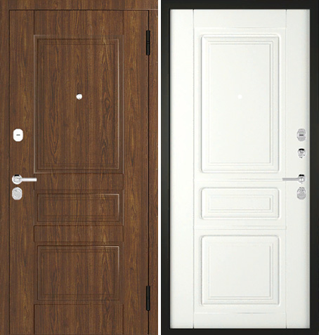 Входная дверь Арт-Классика - 01 (Дуб Тёмный) Vinorit / ПВХ: цены, характеристики, фото